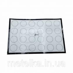 Силиконовый коврик с термоволокном для макаронс