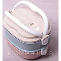 Ланч-бокс 2 емкости по 700 мл Kamille 20 х 14.5 х 13.5 см