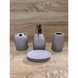 Керамический сиреневый набор для ванной комнаты