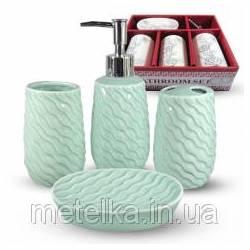 Керамический набор для ванной комнаты, мята