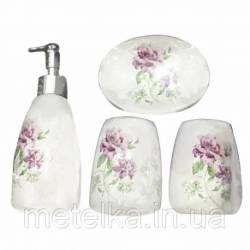 """Керамический набор для ванной комнаты """"Пионы"""""""