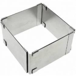 Форма для выпечки раздвижная квадратная Hauser высота 10 см