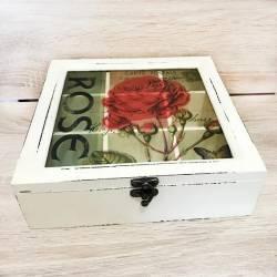 Коробка квадратная для хранения чая S&T на 9 секций