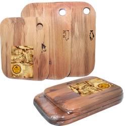 Набір з трьох дерев'яних обробних дощок SNT