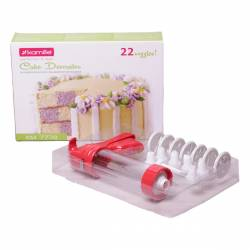 Кондитерский шприц-пресс Kamille из пластика + 21 насадка