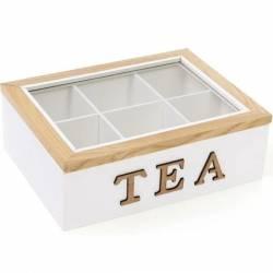 Коробка - шкатулка для зберігання чаю та солодощів на 6 секцій