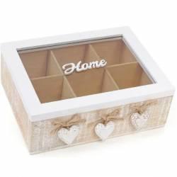 Коробка для зберігання чаю та солодощів на 6 секцій 24 х 18 см