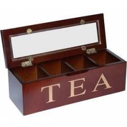 Коробка для зберігання чаю, 4 секцій