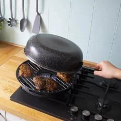 Сковорода гриль-газ с антипригарным покрытием Benson 32,5 см