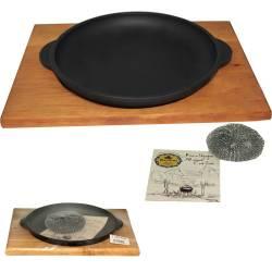 Сковорода чугунная литая с подставкой 18 см