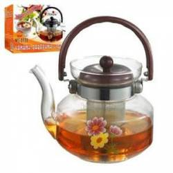 Стеклянный чайник - заварник 800 мл