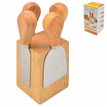 Набір ножів для сиру з підставкою 14 х 6 см