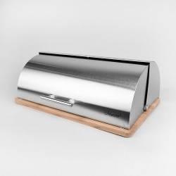 Хлебница металл и бамбук MR-1672S