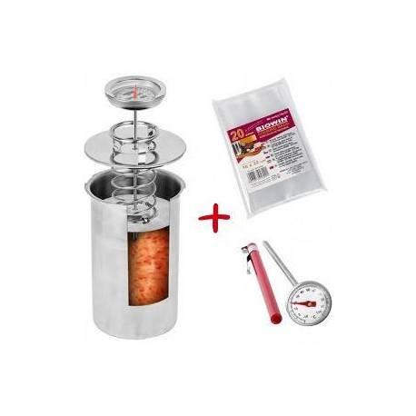 Ветчінніца Browin з термометром і пакетами на 1,5 кг